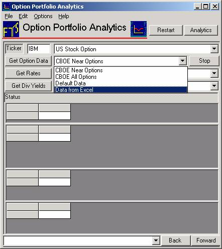 Options trading portfolio manager